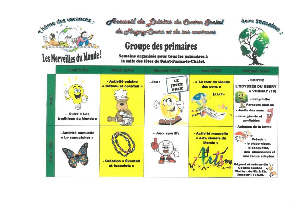 4ème semaine groupe des primaires