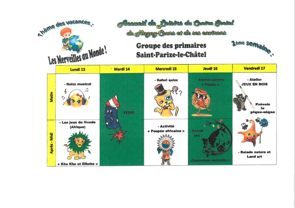 primaire St Parize 2e semaine